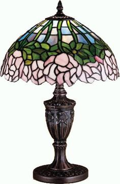 Ive always kind of liked tiffany lamps. this one is one of the more tasteful ones. LT* Cabbage Rose Accent Lamp