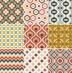 seamless retro pattern Stock Vector