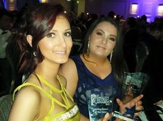 Beth & Kelly with our awards for Best Massage Therapist & Best Tanning Salon 2015