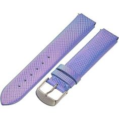 Philip Stein 18mm Iridescent Calf Strap Watches, Blue