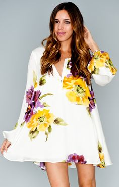 Show Me Your Mumu Jamie Tunic ~ Floating Floral
