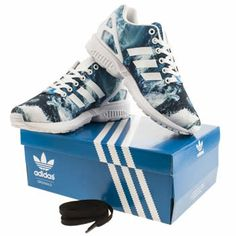 new product e4eef 208e4 Womens Navy   Pale Blue Adidas Zx 8K Graphic Trainers   schuh