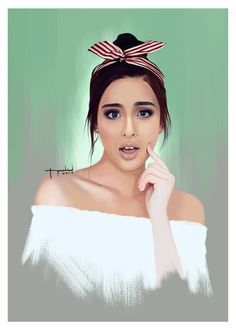 Digital painting of a Filipino actress, endorser and recording artist, Gabbi Garcia. Gabbi Garcia, Outdoor Portraits, Filipina, Blackpink Jennie, Rye, Aesthetic Girl, Homeschool, Best Friends, Nail Art