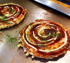 The only reason to go to Abeno Too (and it's a good reason!) is for Okonomiyaki. It's a Japanese dish that's sort of like a sweet, savory cross between a pancake and a pizza. You can pick your toppings but I usually go for some combination of onions, kimchi and pork. Particularly good for lunch or a quick, easy dinner before heading to the theatre.
