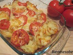 graten de patatas y tomates