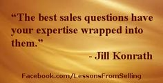 "Selling Quotes - ""The best sales question..."" Check out our Website: http://LessonsFromSelling.com for tips, strategies and stories on becoming a better salesperson. In addition, LIKE us on Facebook for daily quotes and tips at: http://Facebook.com/LessonsFromSelling; and visit us on Twitter: @lfselling"