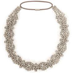 JENNIFER BEHR Crystal Chiffon Headband ($620) ❤ liked on Polyvore