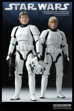 "Star Wars 12"" Luke Skywalker & Han Solo Stormtrooper Disguise SDCC Exclusive"