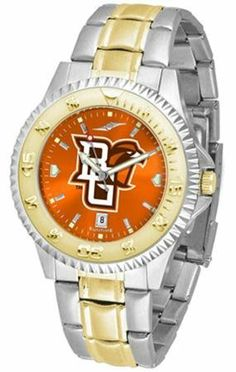 Bowling Green State Falcons Men's Stainless Steel and Gold Tone Watch by SunTime. $93.95. Officially Licensed Bowling Green State Falcons Men's Stainless Steel and Gold Tone Watch. Men. Links Make Watch Adjustable. Two-Tone Stainless Steel. AnoChrome Dial Enhances Team Logo And Overall Look. College two tone men's stainless steel and gold dress watch. A classic, business-appropriate look. Bowling Green State wrist watch features a gold ion-plated bezel, stainles...