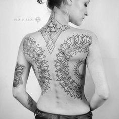 Done with #fantomneedles . It's all #freehand #freehandtattoo . #sacredgeometry #sacred # #tattoo #tattrx #equilattera #blacktattoing #btattoing #tattooart #tattooartist #ink #onlyblackart #tattoistartmag #linework #blackwork #dotwork #back #spiritual #ornamental #sacredgeometrytattoos #fantomneedles