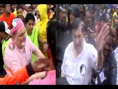 OMG ! Rishi Kapoor & Randhir Kapoor SLAPS & KICKS the media reporter | Ganpati Visarjan 2016.