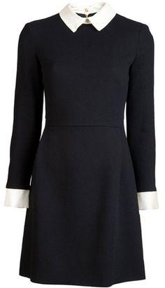 VICTORIA BECKHAM Fitted Dress - omg - looks like my Sandro dress but I like my beaded collar!!