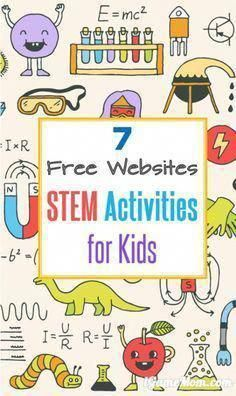 7 Free STEM Websites These free online STEM resources have fun activity ideas for students with fully developed lesson plans for teachers or homeschool parents. Listed out by Science, Techonology, Engineering, Math, and grade level. Steam Activities, Science Activities, Science Resources, Science Books, Computer Science, Stem Science, Science For Kids, Weather Science, Summer Science