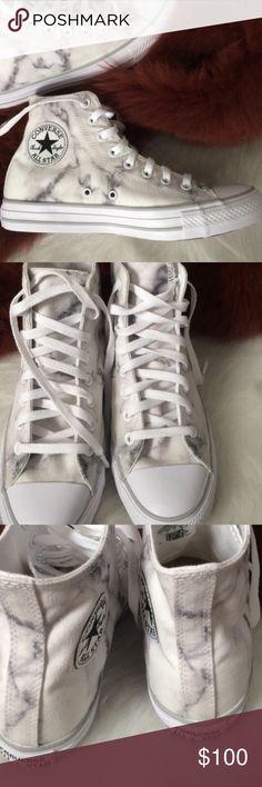 Marble print women's converse size 9 shoes Custom converse. New without box Converse Shoes Sneakers