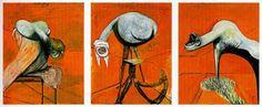 Bacon - Trois figures pour une crucifixion - 1944