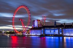 https://flic.kr/p/21ZLLJh   Early Morning, London Eye, Millennium Wheel, River Thames, Westminster, London, England