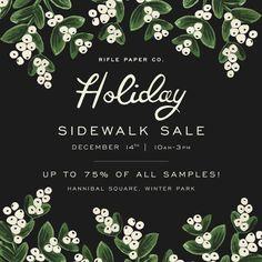 Holiday Sidewalk Sale