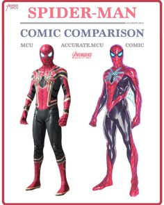 """(@accurate.mcu) on Instagram: """"• SPIDER-MAN - COSTUME COMPARISON • I really like this suit a lot more now I saw it in action."""""""