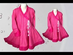 Neck Lines, Angrakha Style, Frock Design, Baby Dresses, Frocks, Sewing Ideas, Stitching, Fashion Dresses, Patterns