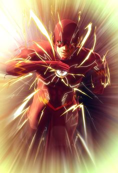 flash The Scarlet Speedster Flash Barry Allen, Flash Comics, Arte Dc Comics, Kid Flash, The Flash Art, Comic Book Heroes, Comic Books Art, Dc Heroes, Comic Art