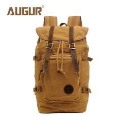 AUGUR Brand New Fashion Backpack Women Mens Designer Backpack Retro Canvas Leisure Laptop Backpack Men Shoulder Bag HT100277