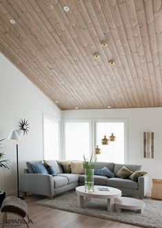 Ceiling can also be something else than white Sweet Home, Ceiling, Curtains, Wood, Interior, Home Decor, Inspired, Ceilings, Blinds