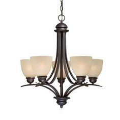 Cascadia Lighting Avalon 25-In 5-Light Oil-Burnished Bronze Craftsman