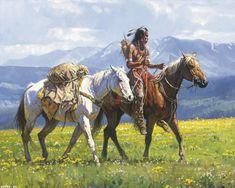 Precio especial caballo pintura al óleo-Indios nativos Americanos # TOP Decor…
