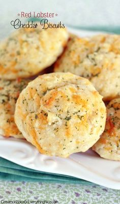 Homemade Red Lobster Cheddar Biscuits - easy drop biscuits - no Bisquick!