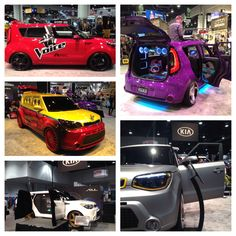 What's better than Vegas by night? Vegas by car. We're at  The SEMA Show 2013 with five eye catching custom Kia Souls.