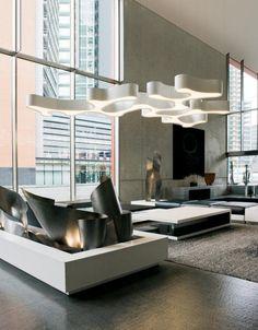 organic form chandelier