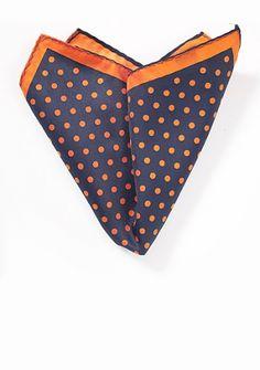 Ziertuch große Pünktchen orange orange