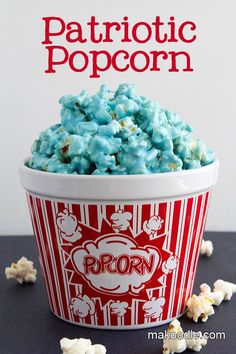 Patriotic Popcorn Treat for 4th of July