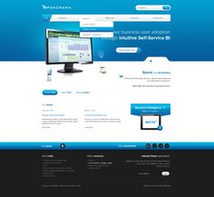 website design, ui blue design, agency design