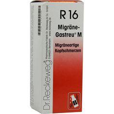 MIGRÄNE GASTREU M R 16 Tropfen zum Einnehmen:   Packungsinhalt: 50 ml Tropfen zum Einnehmen PZN: 04793546 Hersteller: Dr.RECKEWEG & Co.…