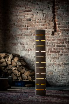 Floor lamp from bent plywood with natural wood texture by zyrRafo
