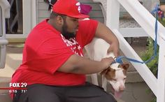 Bunz the Pit Bull was lost for two weeks before being reunited with his autistic best friend.