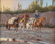 "Western Artist: Ron Stewart, ""After the Rain"", Oil Painting, on Board, Signed Lower Left Hand Corner, #743"