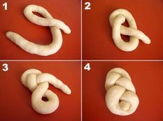 Résultat d'images pour lussekatter shapes How To Make Bread, Food To Make, No Carb Bread, Bread Recipes, Cooking Recipes, Decoration Patisserie, Bread Art, Bread Shaping, Braided Bread