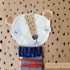Idea: combine anything at hand! Adorable bear art from collaged materials Diy With Kids, Art For Kids, Mixed Media Collage, Collage Art, Bar Kunst, Collage Illustration, Bear Art, Art Graphique, Hanging Wall Art