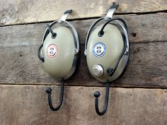 Vintage Headphone Hangers Wall Hooks - pair of 1970's Koss Pro/4AA - with original box & original paperwork. $85.00