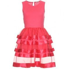 Miu Miu Dresses Miu Miu Cotton And Silk Tiered Dress - LoLoBu