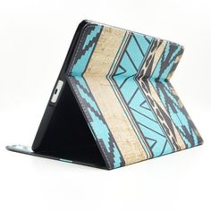 For+iPad+4/3/2+National+Style+Pattern+Leather+Case+with+Holder+&+Card+Slots+&+Wallet