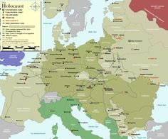 Holocaust Map For Europe - An awful part of our history but important to never forget