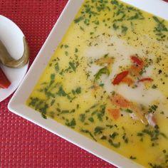 Ciorba de pui a la Grec Supe, Cheeseburger Chowder, Food, Greece, Essen, Meals, Yemek, Eten