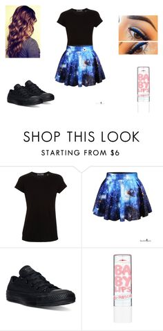 """""""random #28"""" by lesliecalderon125 on Polyvore featuring Vince, Converse, Maybelline, women's clothing, women, female, woman, misses and juniors"""