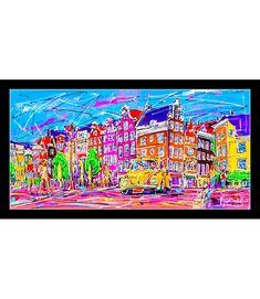 Print on plexiglass Amsterdam PAP.034 Amsterdam Souvenirs, Amsterdam Jordaan, Modern Art, Modern Design, Online Painting, Online Gallery, Enough Is Enough, Design Art, Original Paintings
