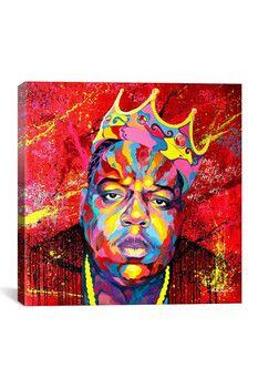 Biggie Ready To Die HD by Noe Two Canvas Print