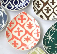 ceramic bowls, plates, etsi, ceramics, appetizerdessert plate, kitchen, appetizers, dessert appet, appet plate