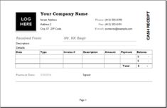 Cargo Receipt Template DOWNLOAD at http://www.receipts-templates.com ...